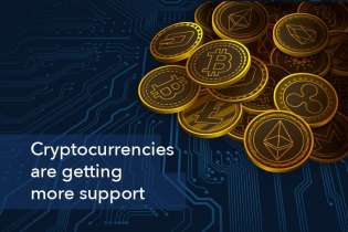 Cryptocurrencies are getting more support