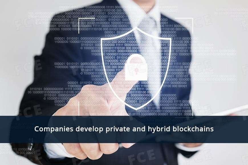 Companies develop private and hybrid blockchains