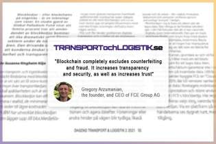 FCE Group is reviewed in an article on blockchain in logistics