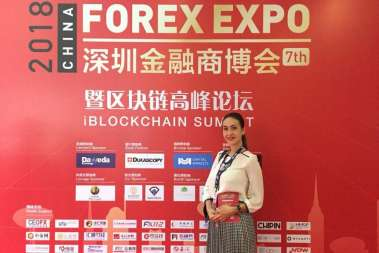 FoodCoin Team on China Forex Expo 2018
