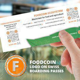 Swiss Airlines Will Promote FOODCOIN On Their Boarding Passes