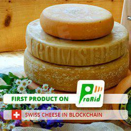 First product on PRORID: Swiss cheese in Blockchain