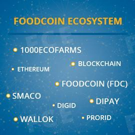 What does FoodСoin Ecosystem consist of?