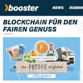 Article About FOODCOIN in Booster Magazine