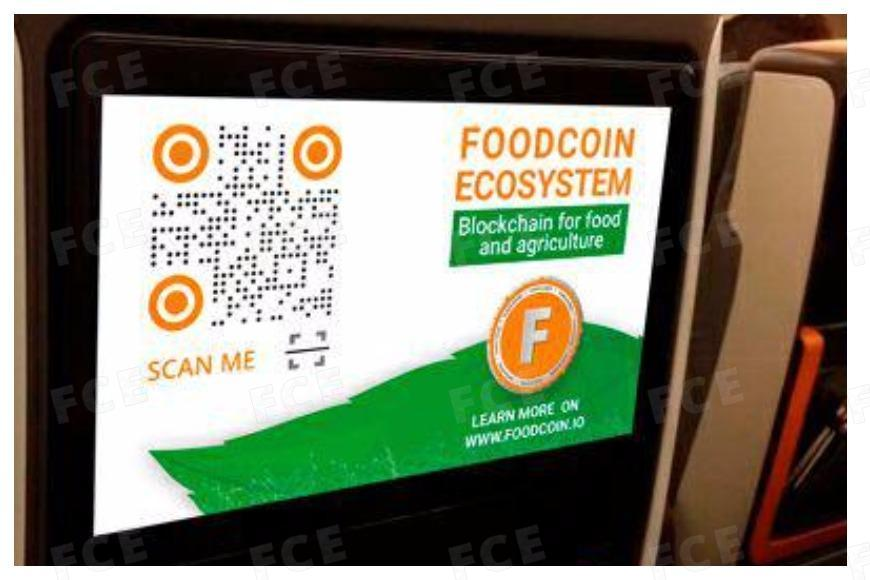 Source: FOODCOIN in the flights of Singapore Airlines