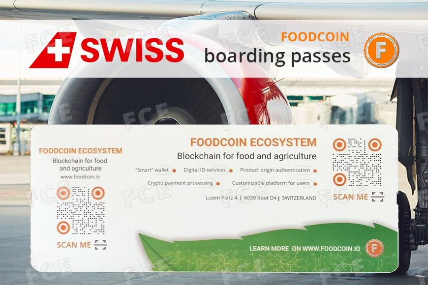 Swiss International Air Lines Boarding Passes With FOODCOIN