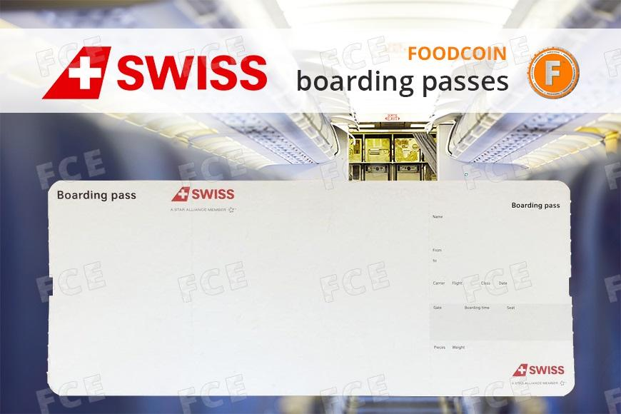 FOODCOIN on Swiss boarding passes