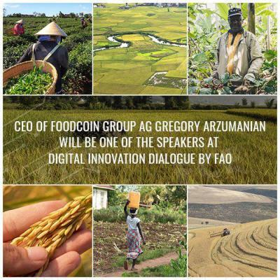 CEO of FOODCOIN GROUP AG Will Be One of The Speakers at Digital Innovation Dialogue by FAO