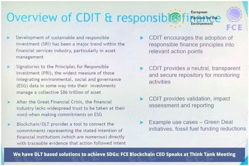 Source: Overview of CDIT & responsible finance