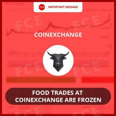 FOOD Trades at CoinExchange Are Frozen