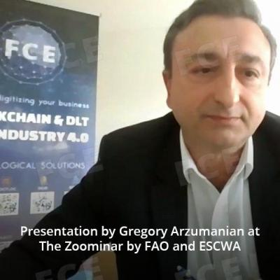 Presentation by Gregory Arzumanian at The Zoominar by FАO and ESCWA