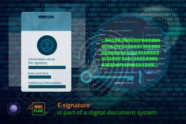 E-signature is part of a digital document system