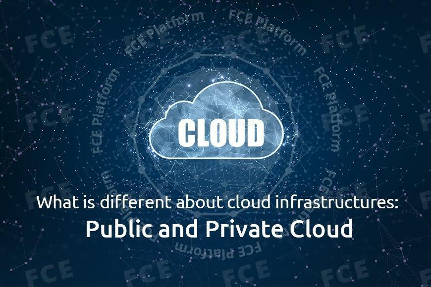 Different about cloud infrastructures: Public and Private Cloud