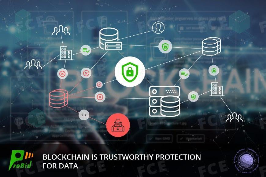 Blockchain is trustworthy protection for data