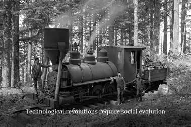 Technological revolutions require social evolution