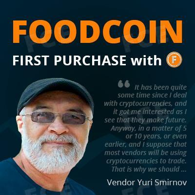 First purchase with FoodCoin: Interview with vendor Yuri Smirnov