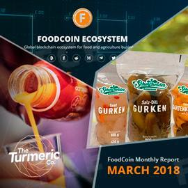 FoodCoin Monthly Report March 2018